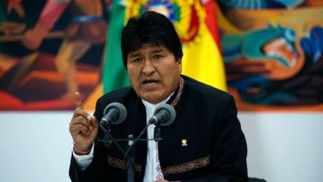 Bolivian leader Evo Morales