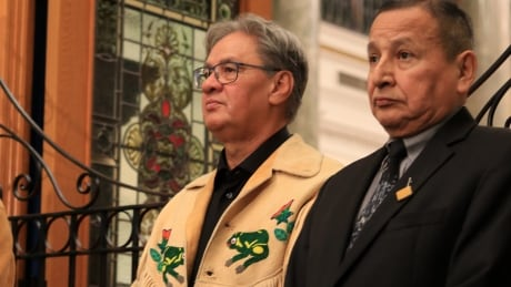 Grand chiefs Ed John and Stewart Phillip