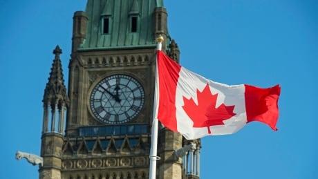 Parliament Hill Canada Ottawa flag