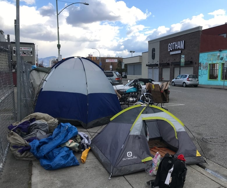 Homeless Campers On Kelowna S Leon Avenue A New