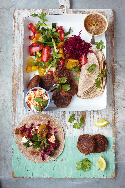 Jamie Oliver S 15 Minute Meals Falafel Wraps With Grilled Veg Salsa Cbc Life