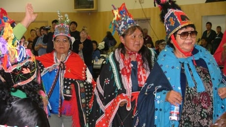 Dancers at a Lake Babine Nation potlatch in northern B.C. in 2004.