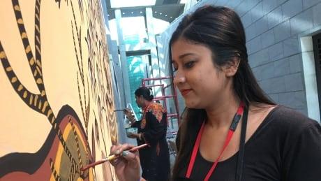 Yvonne Imam, artist from Eastern India. Oct. 29, 2019