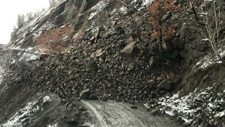 Telegraph Creek rockslide