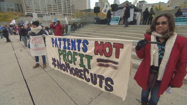 Healthcare protest November 9