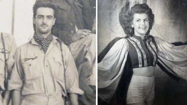 He flew Spitfires over Italy, she entertained the troops. Decades later, they're still happily married
