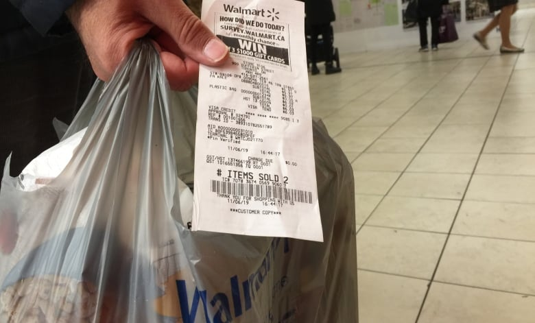 Image result for showing receipt at walmart