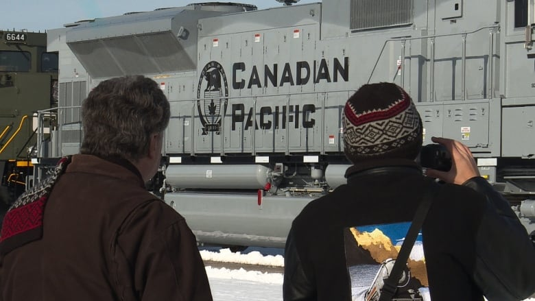 Commemorative locomotives transported undercover into Canada for big reveal