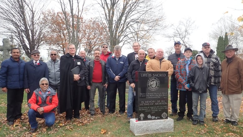 Monument to 'victims of abortion' erected at Belleville cemetery