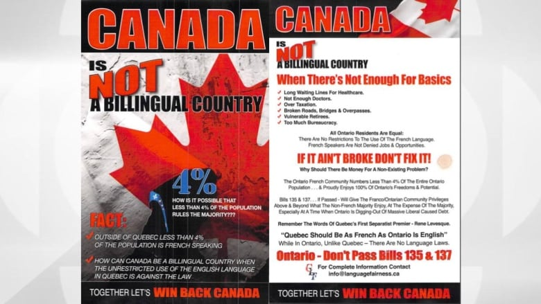 Mayor blasts anti-francophone flyers left at breakfast