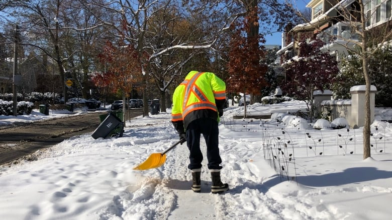 The snow is here and some downtown residents say it's time the city plowed their sidewalks
