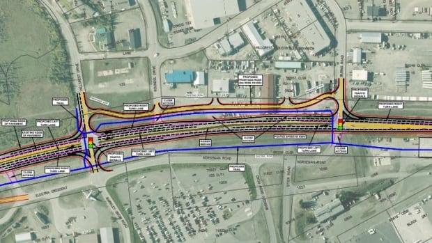 Near-final design of Alaska Highway upgrades near Whitehorse airport displayed - CBC.ca