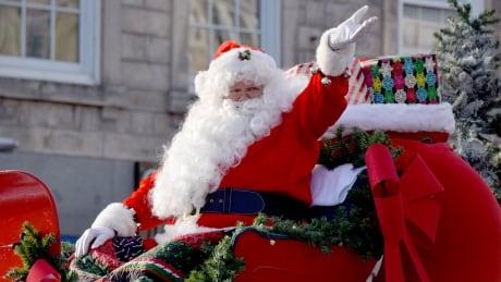 Santa Claus parade waving