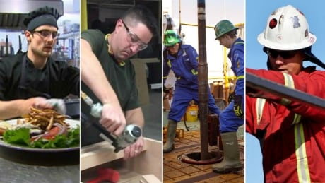 Male jobs collage