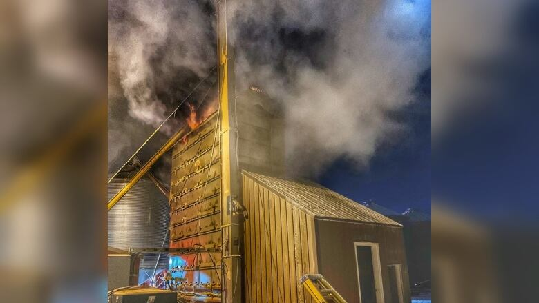 'Get the grain out': wheat drier catches fire near Melfort