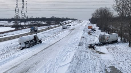 napanee highway 401 crashes winter weather closed tractor-trailer dec 11