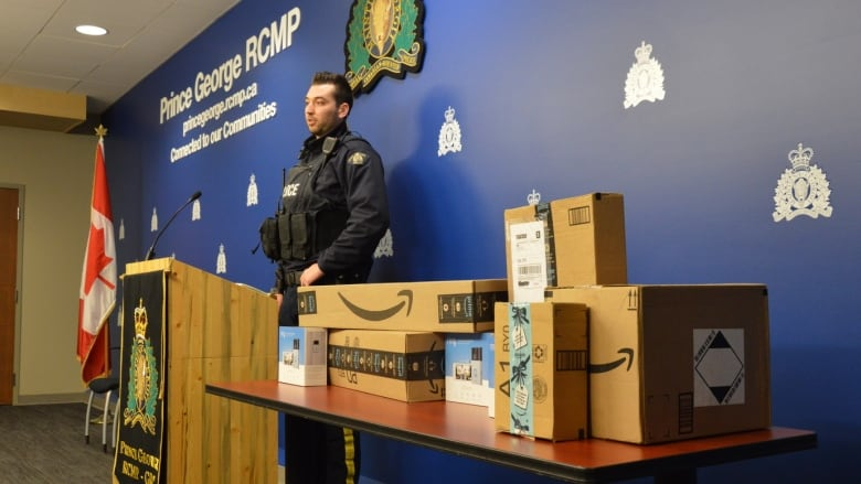 RCMP reveal they've been working with Amazon to catch thieves with bait packages