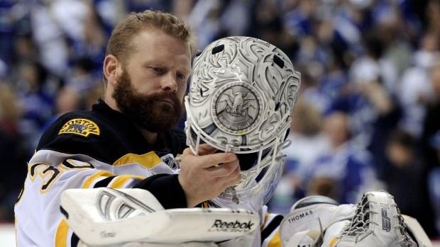 Retired goalie Tim Thomas emotionally details brain damage he says came from hockey | CBC Sports
