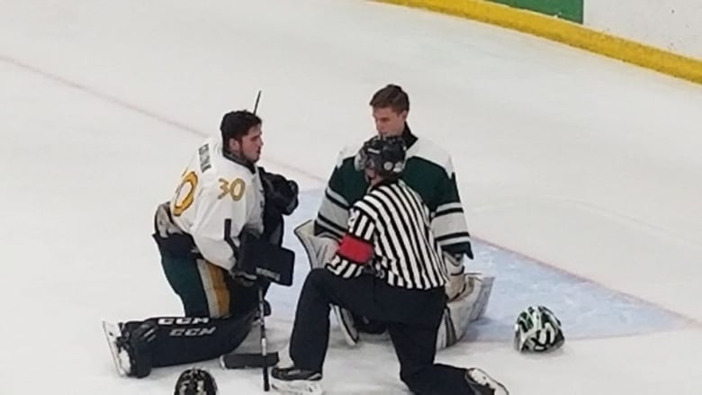 'Classy' move from opposing goalie warms hearts on ice in St. Stephen