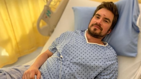 Mark Gayowski after he's rescued from Red Mountain resort back country