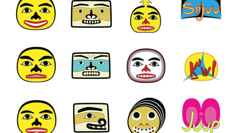 Smiley faces Haida style: totem carver rolls out emojis for the digital age