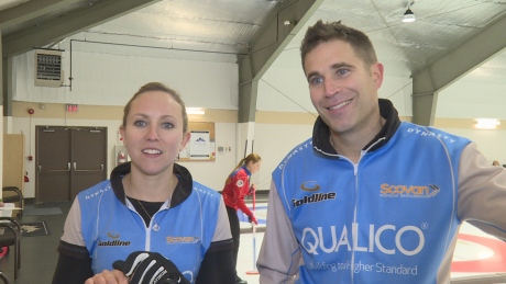 John Morris and Rachel Homan