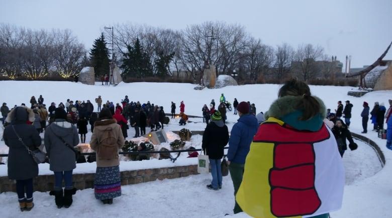 kelly fraser flag - 'She was fierce': Family, friends and fans honour Kelly Fraser at Inuk musician's vigil