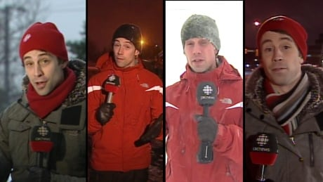 Zach Goudie reporting on snow storms