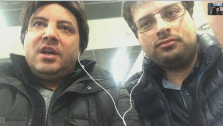 Mohammad Javad Soleimani Meimandi, right and Alireza Ghandchi