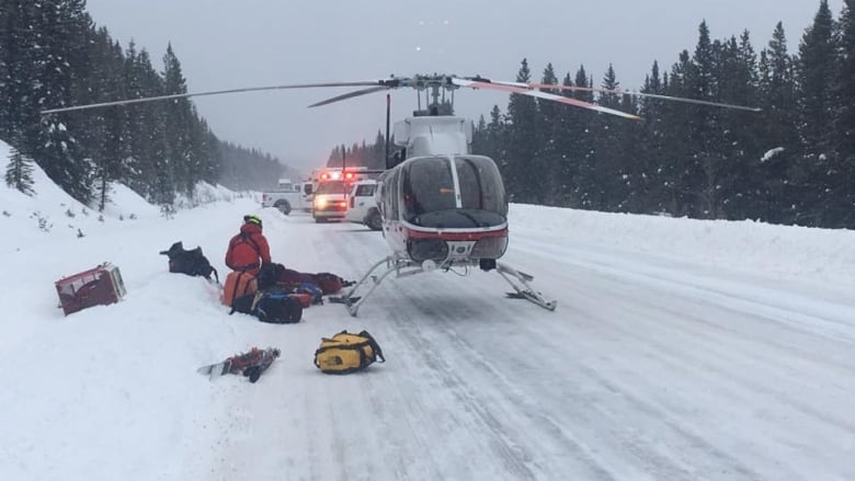 Skier rescued after being buried by avalanche for 45 minutes