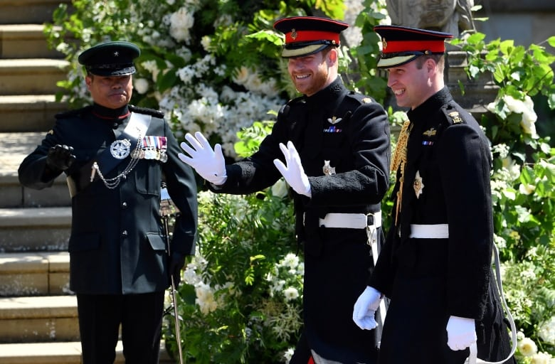 Prince Harry arrives with his best man, Prince William, ahead of Harry and Meghan's wedding. The pair issued a rare statement Monday denouncing reporting about the state of their relationship.(Ben Stansall/Reuters)