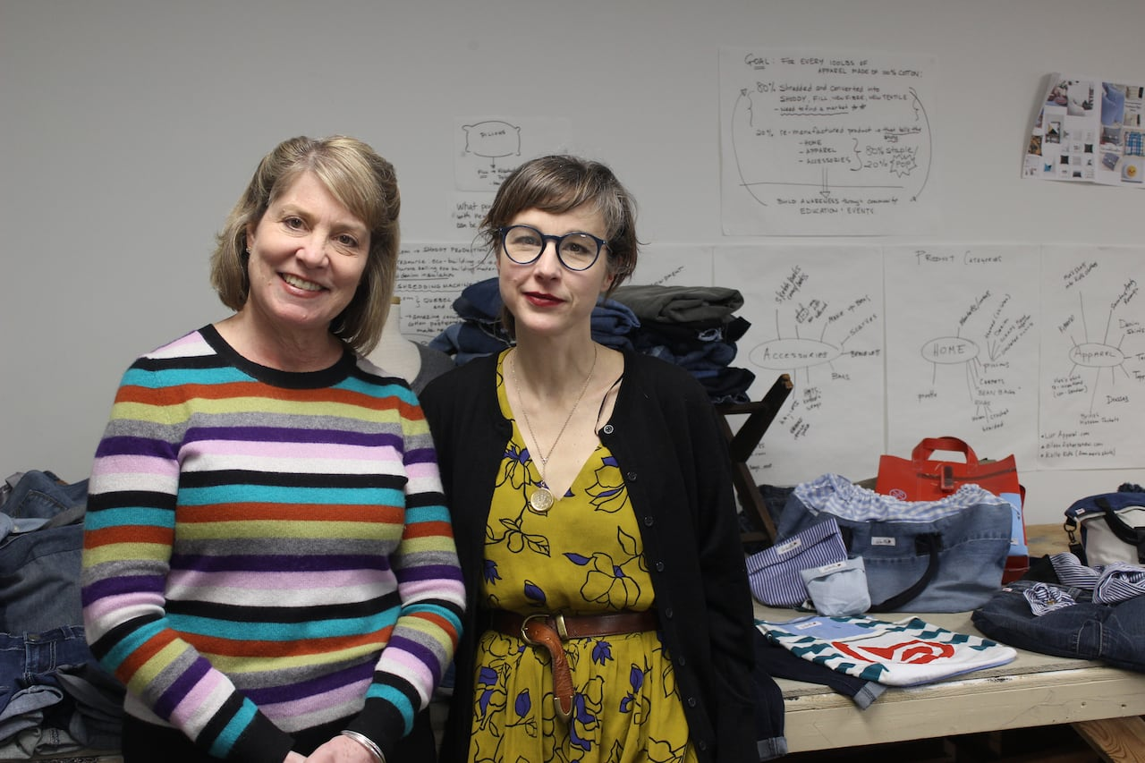 These Fashion Design Profs Are Turning Your Unwanted Clothes Into Bags Scrunchies And Narwhals Cbc News