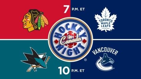 HNIC - CHI at TOR - SJS at VAN - Blackhawks at Maple Leafs - Sharks at Canucks