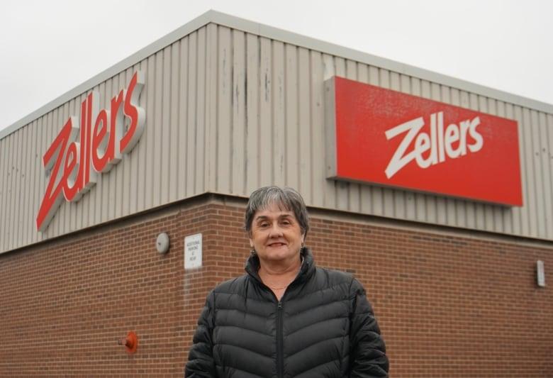 brenda scott in front of zellers etobicoke - As final Zellers stores close, former employees swap memories, memorabilia