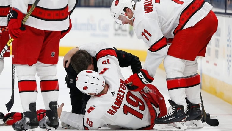 Hurricanes' all-star Dougie Hamilton suffers broken leg