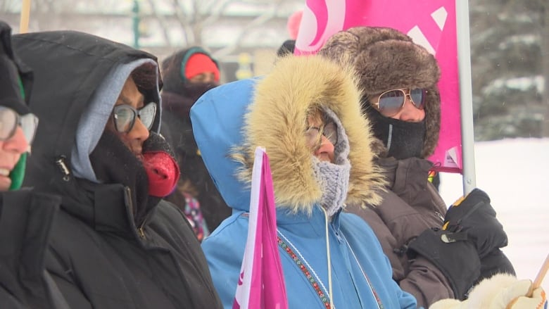 'The fight isn't over' for dozens who braved cold at Winnipeg Women's March