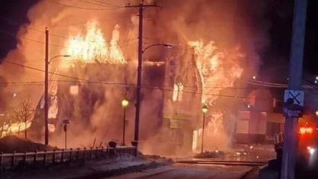 Fire Engulfs Two Storey Building In Glace Bay