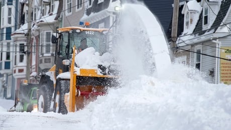 Snowblower in downtown St. John's