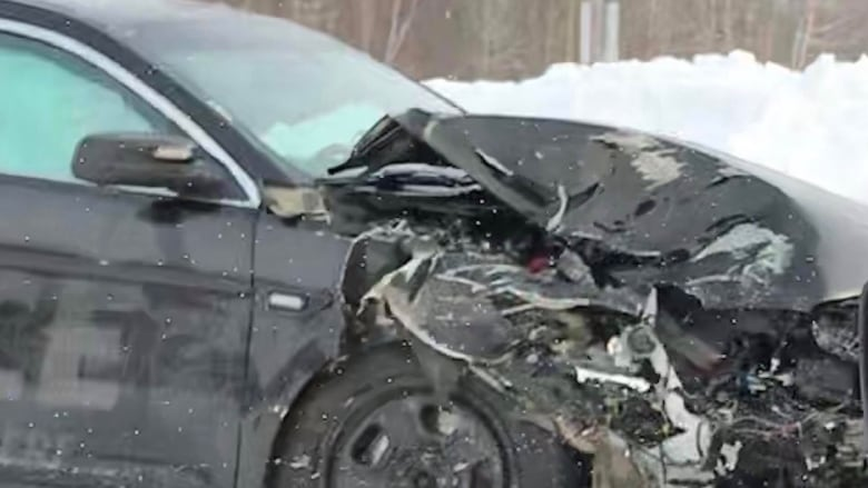 Slippery roads to blame for cruiser crash, police say