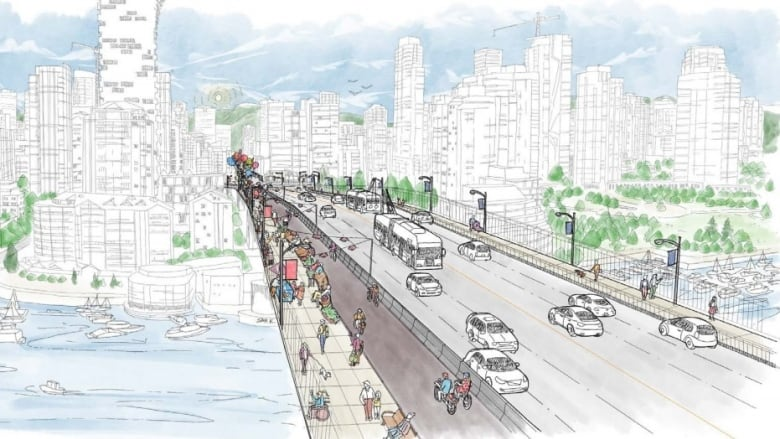Here's what the proposed Granville bridge redesign looks like