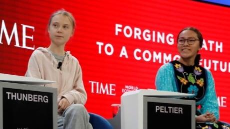 Greta Thunberg and Autumn Peltier