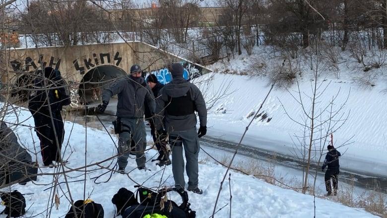 Body found encased in ice in Burlington creek