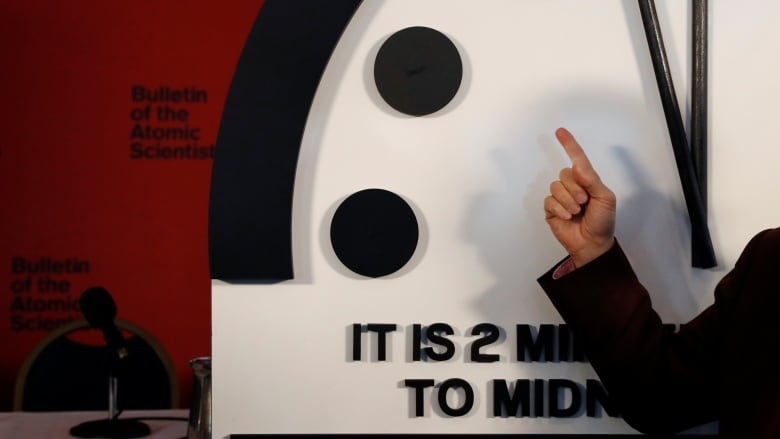 Doomsday clock announcement to be made at 10 a.m.
