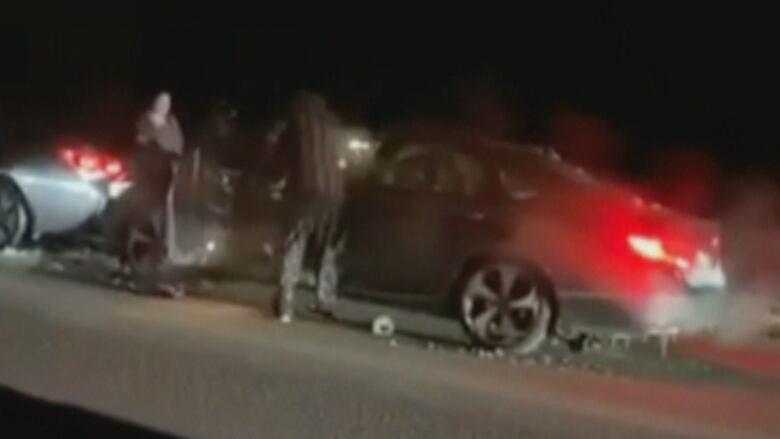 Eyewitness video of 'road rage' incident disturbs police