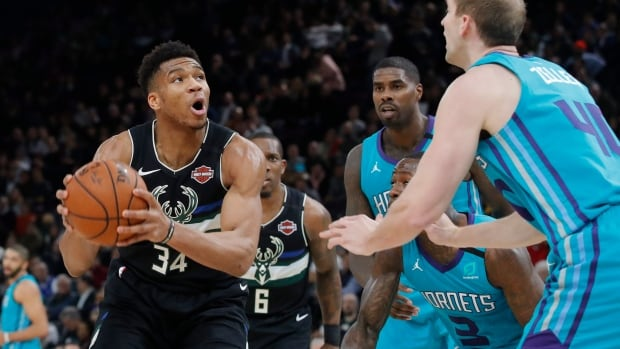 Red-hot Bucks ride Antetokounmpo to victory over Hornets in Paris