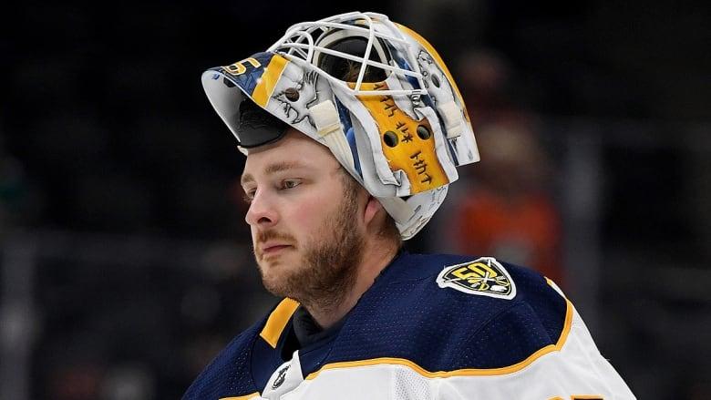 Sabres Goalie Linus Ullmark out 3-4 Weeks; Jonas Johansson Promoted