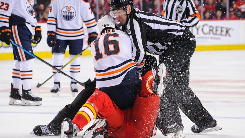 The Hatred Is Real Oilers Dominate Flames In Latest Chapter Of Battle Of Alberta Cbc Sports