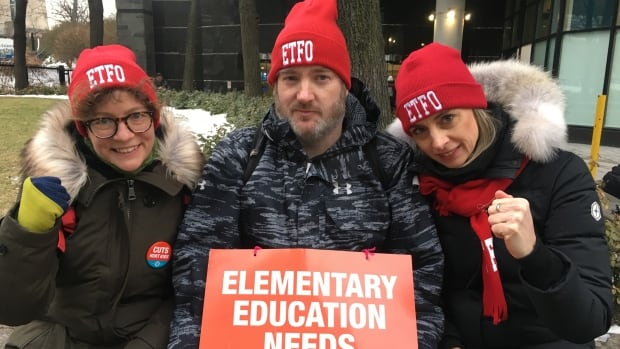 Elementary schools closed as teachers hit the picket line in provincewide strike | CBC News