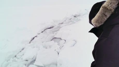 ice fissure near Cambridge Bay