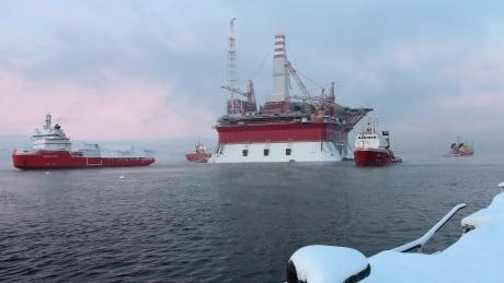Prirazlomnaya oil platform in Russian Arctic